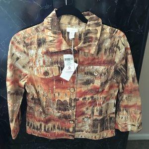 Denim jacket by Chicos size 0